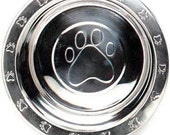 1 Pint Stainless Steel Bowl - Paw-Print Embossed Bowl - Additional or Replacement Bowl