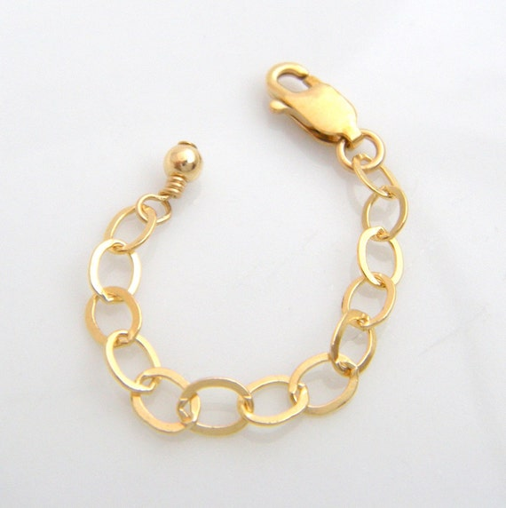 Inch gold extension chain 14k gold filled necklace extender