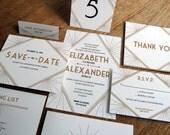 Printable Wedding Invitation Set - Gatsby Style - Wedding Printables - Wedding Invitation Kit - Wedding Stationery Downloads - Art Deco