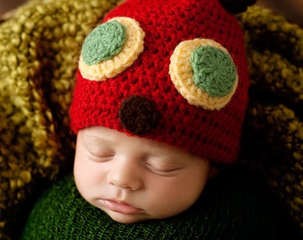 The Hungry Caterpiller...Baby Hat...BAby Hat...Hungry Caterpiller  hat..Newborn photography prop..... PerfectlY AdoRABLE Baby HaT