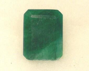 63 carat  .....  faceted emerald gemstone  ... 27 x 31 x 13 MM