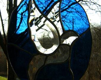 Dove Bluebird Birds Stained Glass Suncatcher Christmas Decor Valentines Mothers Day Love Canada Panel Easter Original Design