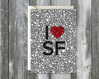I Heart SF - Blank Card
