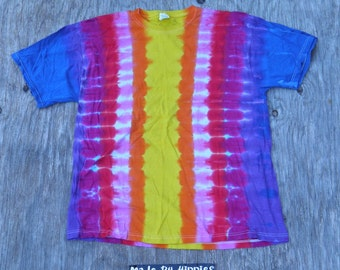 Sweet Gradient Tie Dye T-Shirt (Jerzees Size XL) (One of a Kind)