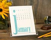 2016 Desk Calendar - Desktop Stand - BUY 2 GET 1 FREE - Simple Type Modern Colorful