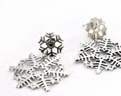 Afro Snowflake Earrings || Hand crafted Sterling silver earrings || unique winter jewellry || Christmas Gifts Collection || Winter 2014