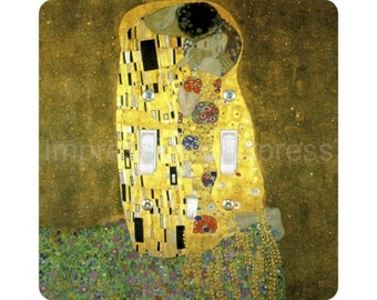 Gustav Klimt The Kiss Square Double Toggle Light Switch Plate Cover