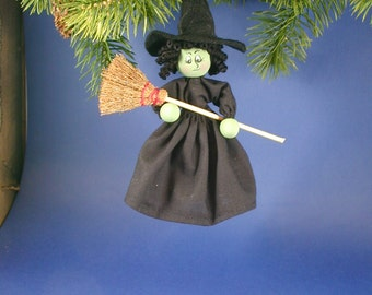 Wicked Witch Oz Clothespin Ornament
