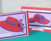 Red Hat Ladies Mother's Day Cards 2pk