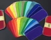 MamaBear Reusable Cloth Wipes (Unpaper) Set - Baker's Dozen - Rainbow Set