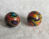 2 Colorful Beads, 23mm
