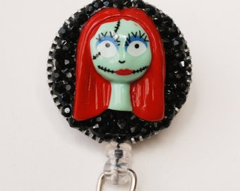 Sally From Nightmare Before Christmas ID Badge Reel - Retractable  ID Badge Holder - Zipperedheart