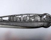 Watson 1920s Art Deco Atlantic City Boardwalk New Jersey  sterling silver souvenir tea spoon- phenomenal detail