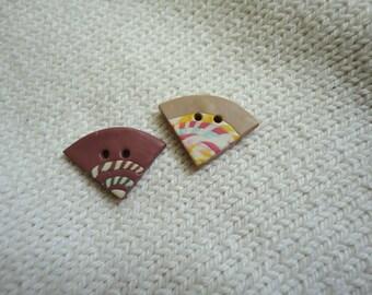 Odd Triangles Handmade Buttons