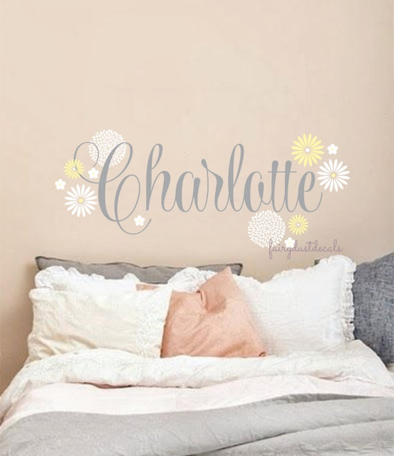 Personalized Name Decal Baby Girl Name Nursery Wall Decals - Wall decals baby girl