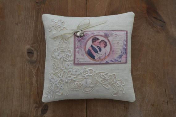 "Wedding Ring Bearer Pillow ""Diamond Ring"""