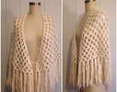 Handmade Vintage Crochet Shawl