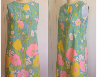 Vintage 1960's Handmade Dress size 9