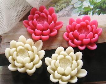 20 pcs 23mm - Assorted Lotus Cabochon (CA828-Ass)