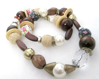 Bohemian Potpourri Mixed Beads Neckalce