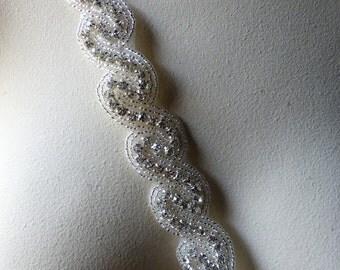 "16""  Rhinestone Trim for Bridal Sashes, Headbands, Jewelry"