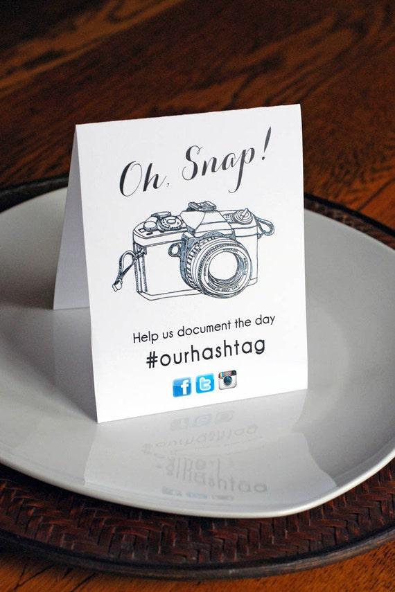 Printable instagram hashtag social media sign digital file for Table sign design