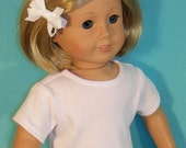 American Made 18 Inch Doll Short Sleeved White Tee Shirt