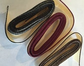 Bookbinding - Headband material; Black, Dark Brown, Burgundy