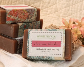 Jasmine Vanilla Goat's Milk Soap Cold-Process Bar