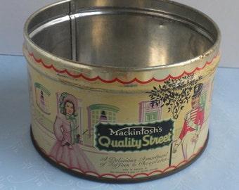 Mackintosh Quality Street Litho Tin Can Box - missing lid