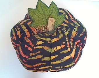 Size 10 | Multi Striped Fabric Pumpkin | Halloween Decor | Gothic | Fall Decor | Holidays | Kitchen Decor | Table Centerpiece | Handmade |#6