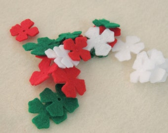 48- Die cut Felt Lilac Flowers,  Christmas
