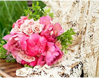 Pink Roses Flower Bouquet Fine Art Canvas wrap -Washington -Pacific Northwest