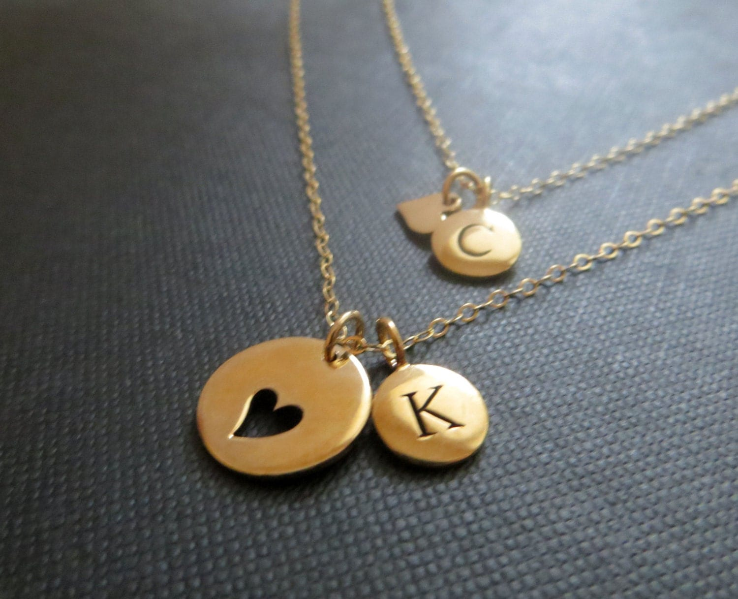 personalized jewelry mother daughter initial necklace mother. Black Bedroom Furniture Sets. Home Design Ideas