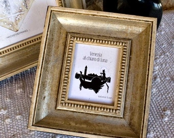 3x4 inch Antique Style Warm Silver Distressed Photo Frame/Wedding/Office Desktop Small Image Antiqued Silver Frame