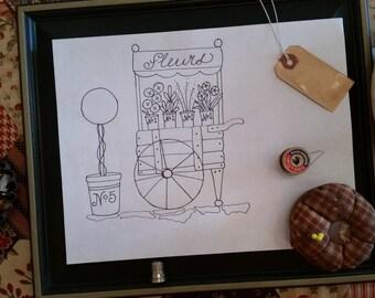 Marigold's Flower Cart ePattern