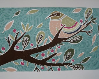Reaching Out 2 limited edition screenprint by Liz Toole. Only one available unframed