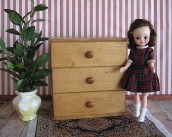 Vintage Strombecker Type Dresser For Small Dolls