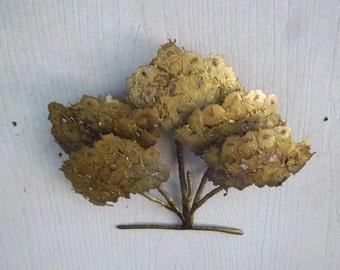 Handmade Vintage Welded Dimensional Wallhanging Rustic Tree