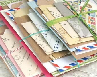 Junk Journal Bundle of Envelopes,Tags for DIY Art Journal Kit,Scrapbook Kit, Project Life, Smash Book Bundle Kit, Planner, 20pcs