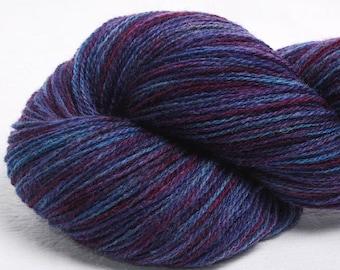 Hand dyed yarn, Scottish Shetland, hand painted, British shetland yarn, pure Shetland wool, Indie dyed,100g, colour; Crarae