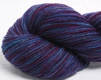 Scottish Shetland hand dyed painted  2ply  100% pure Shetland wool yarn Indie 100g