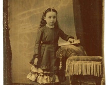 Beautiful Raven Haired Girl Tintype