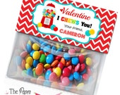 Printable Valentine Bag toppers, Gumball Machine Bag Topper, Digital Treat Bag Topper, PDF, Valentine treat bags