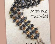 Tutorial Maxime Kheops beads, Silky Beads Beadwork Bracelet PDF
