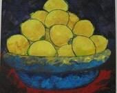 """Original Artwork - Mixed Media - Make Lemonade - 14""""x14"""""""