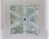 A  Christmas whisper - beautiful snowflake handmade card