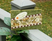 Thanksgiving Quilted Fabric Postcard