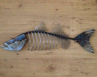 Snook  Fish Metal 30in Wall sculpture Tropical Beach Coastal Art
