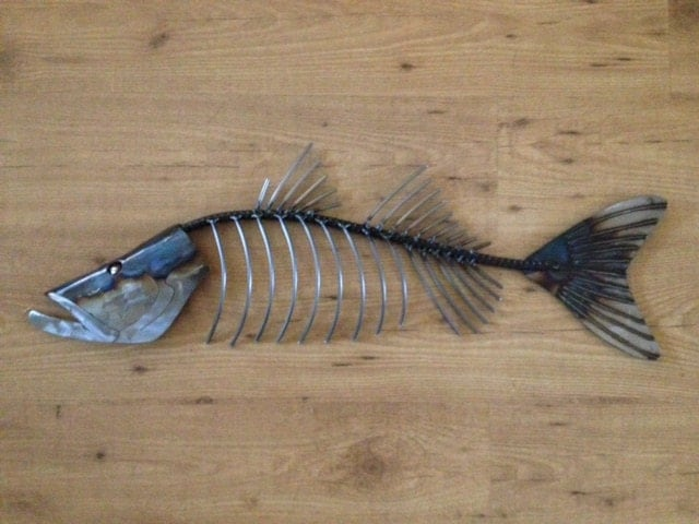 Snook fish metal 30in wall sculpture tropical beach for Fish wall sculptures